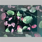 Modern Green And Pink Leaves Mini Canvas 6  x 4  6  x 4  x 0.875  Stretched Canvas