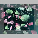 Modern Green And Pink Leaves Mini Canvas 7  x 5  7  x 5  x 0.875  Stretched Canvas