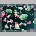Modern Green And Pink Leaves Canvas 16  x 12  16  x 12  x 0.875  Stretched Canvas