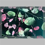 Modern Green And Pink Leaves Canvas 18  x 12  18  x 12  x 0.875  Stretched Canvas