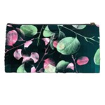 Modern Green And Pink Leaves Pencil Cases Back