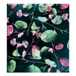 Modern Green And Pink Leaves Shower Curtain 66  x 72  (Large)  58.75 x64.8 Curtain