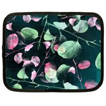 Modern Green And Pink Leaves Netbook Case (XXL)  Front