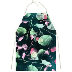Modern Green And Pink Leaves Full Print Aprons