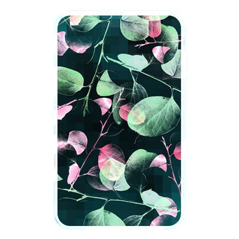 Modern Green And Pink Leaves Memory Card Reader