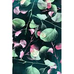 Modern Green And Pink Leaves 5.5  x 8.5  Notebooks Front Cover Inside
