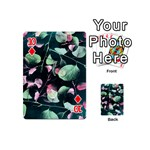 Modern Green And Pink Leaves Playing Cards 54 (Mini)  Front - Diamond10