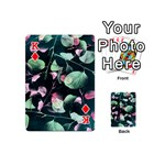 Modern Green And Pink Leaves Playing Cards 54 (Mini)  Front - DiamondK