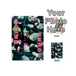 Modern Green And Pink Leaves Playing Cards 54 (Mini)  Front - Joker2