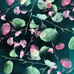 Modern Green And Pink Leaves Storage Stool 12   Front