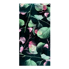 Modern Green And Pink Leaves Shower Curtain 36  X 72  (stall)