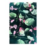 Modern Green And Pink Leaves Shower Curtain 48  x 72  (Small)  42.18 x64.8 Curtain