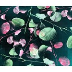 Modern Green And Pink Leaves Deluxe Canvas 14  x 11  14  x 11  x 1.5  Stretched Canvas