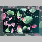 Modern Green And Pink Leaves Deluxe Canvas 18  x 12   18  x 12  x 1.5  Stretched Canvas