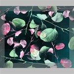 Modern Green And Pink Leaves Deluxe Canvas 20  x 16   20  x 16  x 1.5  Stretched Canvas