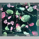 Modern Green And Pink Leaves Deluxe Canvas 24  x 20   24  x 20  x 1.5  Stretched Canvas