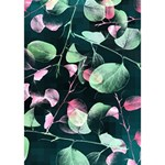 Modern Green And Pink Leaves Apple 3D Greeting Card (7x5) Inside