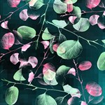 Modern Green And Pink Leaves Best Wish 3D Greeting Card (8x4) Inside