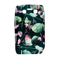 Modern Green And Pink Leaves Bold 9700
