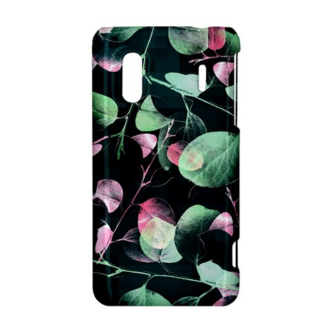 Modern Green And Pink Leaves HTC Evo Design 4G/ Hero S Hardshell Case