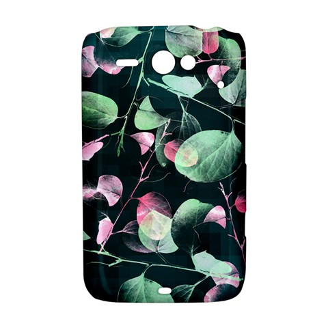 Modern Green And Pink Leaves HTC ChaCha / HTC Status Hardshell Case