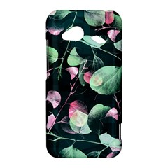 Modern Green And Pink Leaves HTC Droid Incredible 4G LTE Hardshell Case