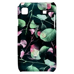 Modern Green And Pink Leaves Samsung Galaxy S i9000 Hardshell Case