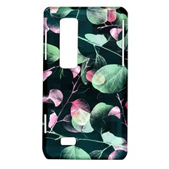Modern Green And Pink Leaves LG Optimus Thrill 4G P925