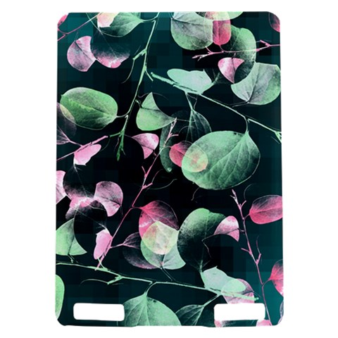 Modern Green And Pink Leaves Kindle Touch 3G