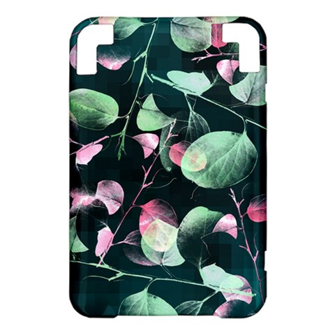 Modern Green And Pink Leaves Kindle 3 Keyboard 3G