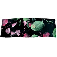 Modern Green And Pink Leaves Body Pillow Case (dakimakura)