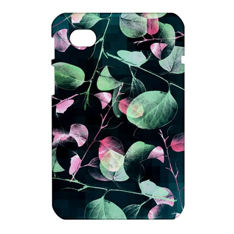 Modern Green And Pink Leaves Samsung Galaxy Tab 7  P1000 Hardshell Case