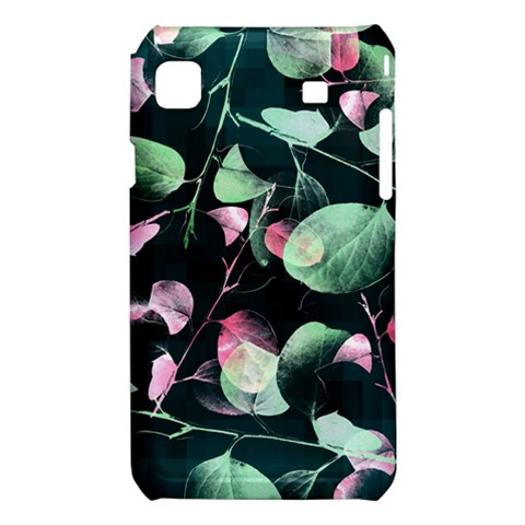 Modern Green And Pink Leaves Samsung Galaxy S i9008 Hardshell Case