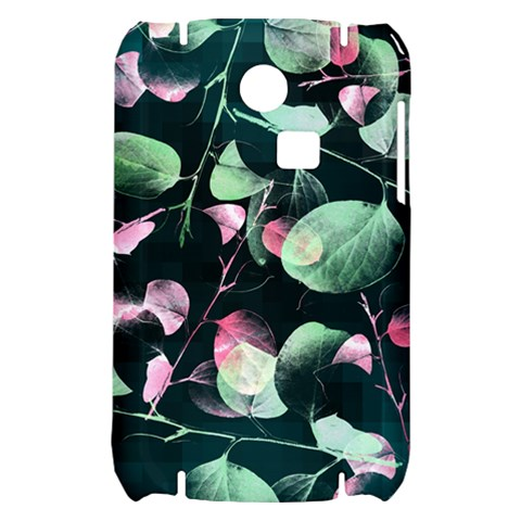 Modern Green And Pink Leaves Samsung S3350 Hardshell Case