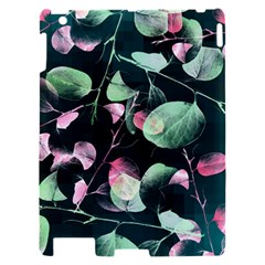 Modern Green And Pink Leaves Apple iPad 2 Hardshell Case