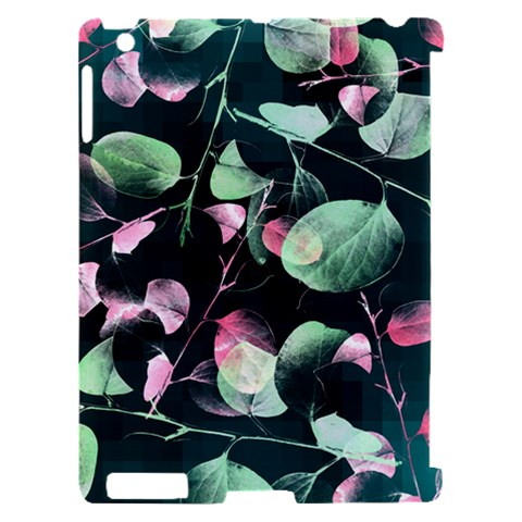 Modern Green And Pink Leaves Apple iPad 2 Hardshell Case (Compatible with Smart Cover)