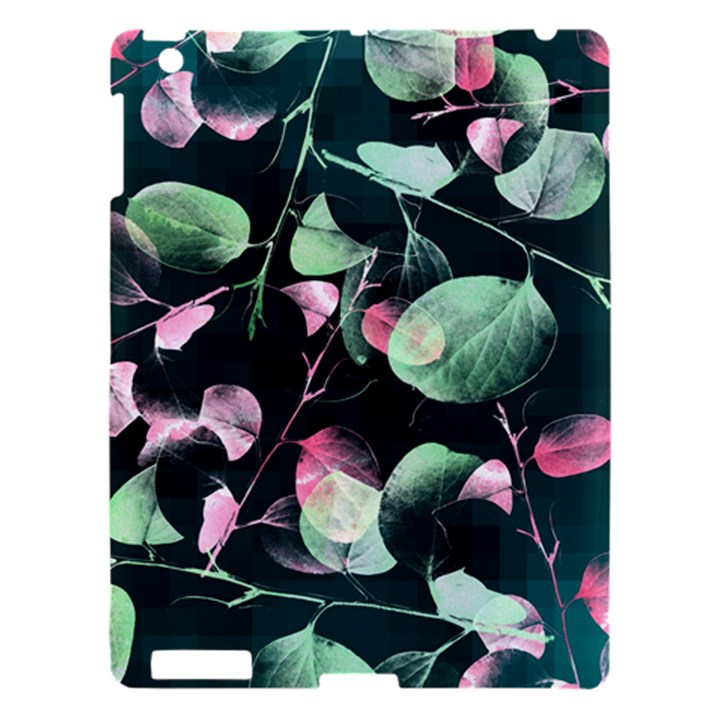 Modern Green And Pink Leaves Apple iPad 3/4 Hardshell Case