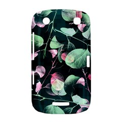Modern Green And Pink Leaves BlackBerry Curve 9380