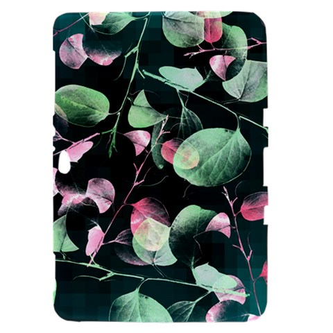Modern Green And Pink Leaves Samsung Galaxy Tab 8.9  P7300 Hardshell Case