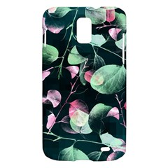 Modern Green And Pink Leaves Samsung Galaxy S II Skyrocket Hardshell Case