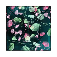 Modern Green And Pink Leaves Acrylic Tangram Puzzle (6  x 6 )