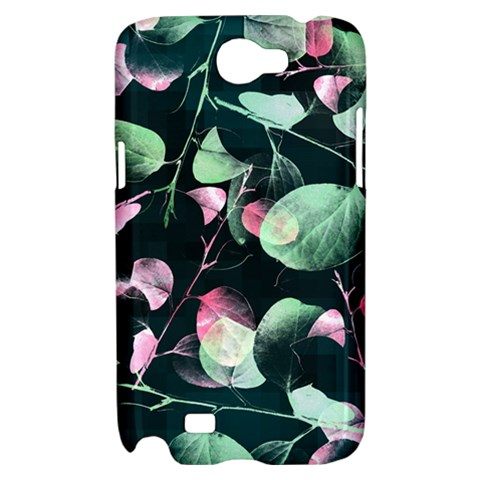 Modern Green And Pink Leaves Samsung Galaxy Note 2 Hardshell Case