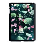 Modern Green And Pink Leaves Apple iPad Mini Case (Black) Front
