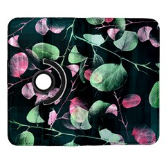 Modern Green And Pink Leaves Samsung Galaxy Note II Flip 360 Case