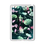Modern Green And Pink Leaves iPad Mini 2 Enamel Coated Cases Front
