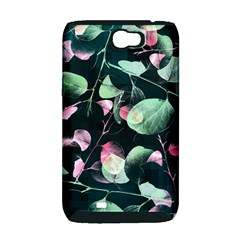 Modern Green And Pink Leaves Samsung Galaxy Note 2 Hardshell Case (PC+Silicone)