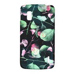 Modern Green And Pink Leaves LG Nexus 4