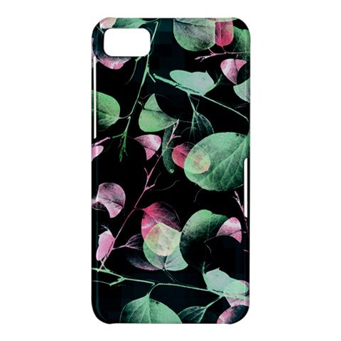 Modern Green And Pink Leaves BlackBerry Z10