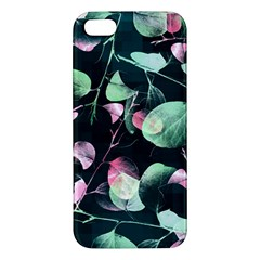 Modern Green And Pink Leaves Apple Iphone 5 Premium Hardshell Case