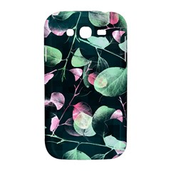 Modern Green And Pink Leaves Samsung Galaxy Grand DUOS I9082 Hardshell Case